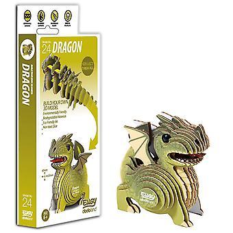 Eugy 3d dragon model, craft kit