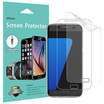 Jetech screen protector for samsung galaxy s7, tpe ultra hd film, full screen coverage, 2-pack
