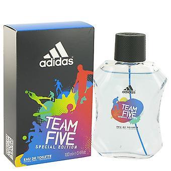 Adidas Team viisi Adidas Eau De Toilette Spray 3,4 oz/100 ml (miehet)