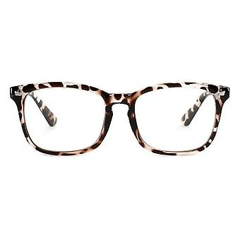 Nerd Square Eyeglasses Frames Women Reading Clear Lens Black
