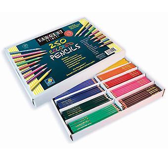 Colored Pencil Assortment, 10 Colors, 250 Count