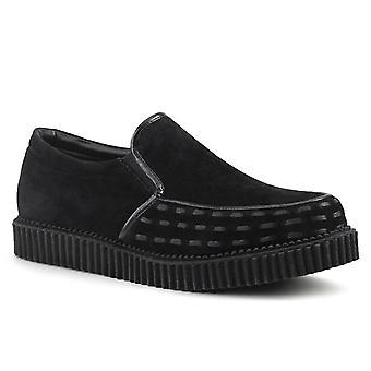 Chaussures Unisex Demonia V-CREEPER-607 Blk Vegan Suede