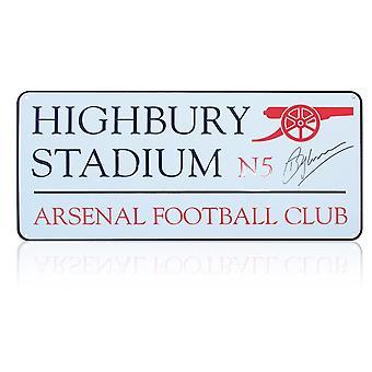 Dennis Bergkamp signiert Highbury Stadium Zeichen