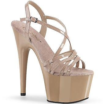 Pleaser Women's Shoes ADORE-713 Nude Pat/Nude