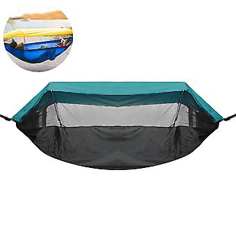 290x140cm Outdoor Double Hammock Hanging Swing Bed With Mosquito Net Max Load 300kg Camping Hiking