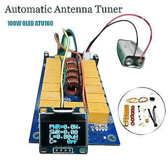 קיט diy אוטומטי מקלט אנטנה 7x7 (atu-100 מיני על ידי n7ddc 7 * 7)+0.96 אינץ' oled קושחה מתוכנת מבריטניה + oled 1pcs