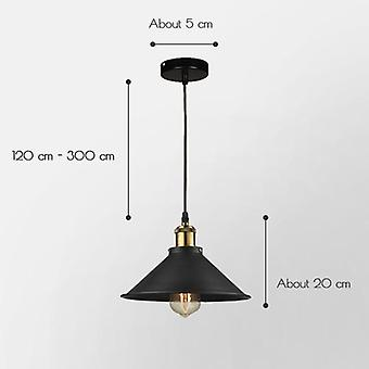 Modern Pendant Light Black Iron Hanging Cage Vintage Led Lamp