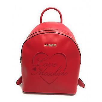 Женская сумка Любовь Moschino Рюкзак в эко-коже Красный / Сердце Вышитое B21mo43