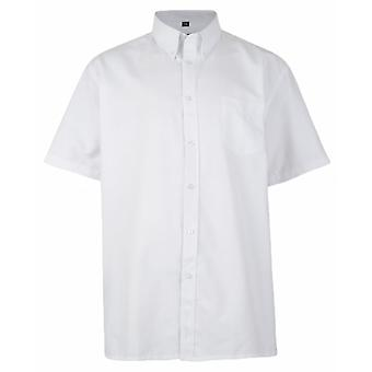 KAM Kam Mens Big Size Plain Short Sleeve Oxford Shirt