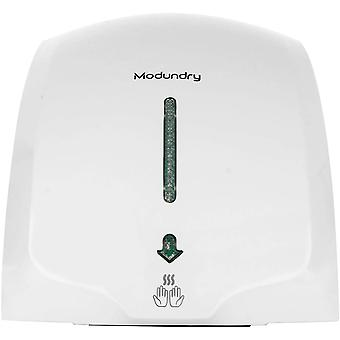 Modundry Hand Dryer Electric Automatic Sensor Handy Wash Commercial for Bathroom - White