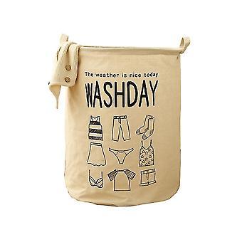 Waterproof folding laundry basket, bathroom bedroom storage frame, foldable fabric waterproof dirty clothes basket
