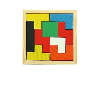 Hölzerne Tangram Puzzle Gehirn Tetris