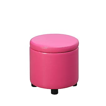 Designs4Comfort Round Accent Storage Ottoman - R9-162