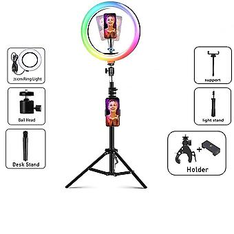 Rgb Led Selfie Ring Light Dimmable Lamp Photo Video Camera Phone