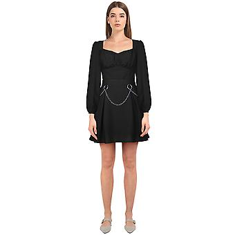 שיק כוכב בתוספת גודל Tencel שמלת מיני בשחור