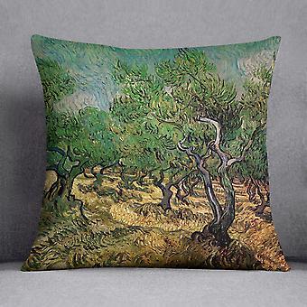 Olive grove 2 by van gogh cushion