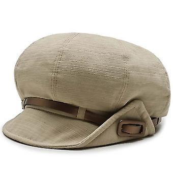 Retro dungi orizontale Newsboy Cap de înaltă calitate Beret Belt Octogonal Hat