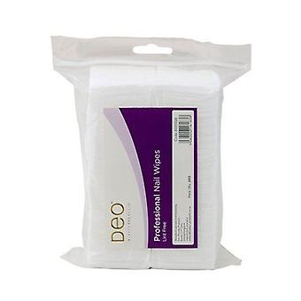 DEO Disposable Nail Wipes - 100% Biodegradable & Lint Free - Pack of 200
