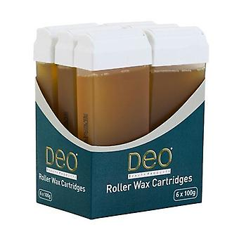 DEO Roller Wax Cartridge Lotions for Waxing - Honey - 100 ml - Pack of 6
