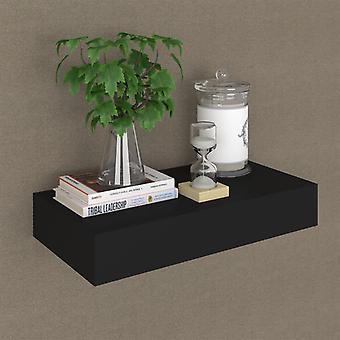 vidaXL Schweberegal ja laatikko Musta 48 x 25 x 8 cm