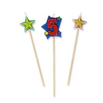 Star Number Candles - No 5