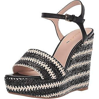 Aldo Women's Shoes Brorka Leather Peep Toe Casual Platform Sandals