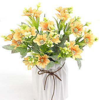 5Pcs人工花メープルリーフ菊は女性のための花の偽の贈り物を乾燥