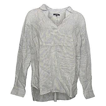 NYDJ Femmes Top Reg Linen Pullover Tunic Blanc A372192