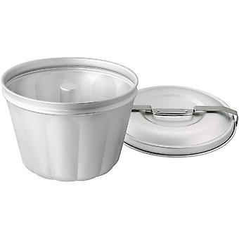 FengChun Wasserbadform Aluminium Ø 21 cm, Backform für Gugelhupf aus Stahlblech, Puddingform für