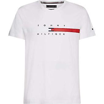 Tommy Hilfiger Global Stripe Chest Tee T-Shirt, White, S Men