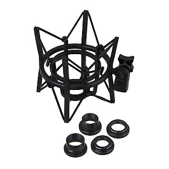 لمربع البلاستيك شكل العنكبوت جبل صدمة للميكروفون حجم كبير أسود WS5221