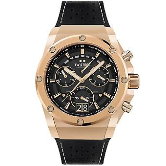 TW Steel Ace123 Ace Genesis Rose Gold & Black Rubber Strap Chronograph Mens Watch