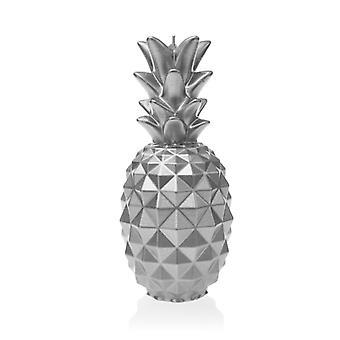 Hopeinen suuri ananaskynttilä