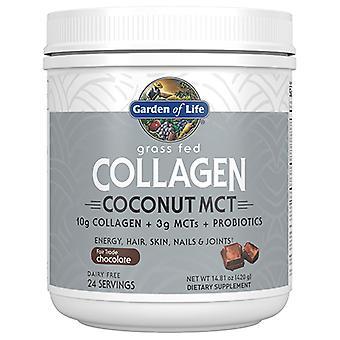 Garden of Life Kollagen Kokos MCT Pulver, Chokolade, 420 Gram