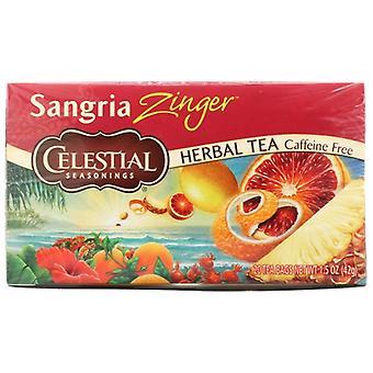 Celestial Seasonings Tea Sangria Zinger, Case of 6 X 20 Bags
