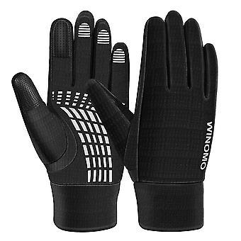 Športové rukavice s rukavicami s dotykovou obrazovkou pre fitness vzpieranie Racing Training Climbing Riding Parkour Running (čierna)