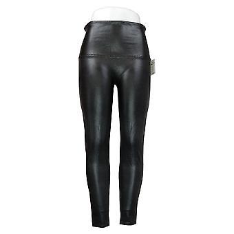 Spanx Plus Leggings Faux Leather Pebble Grey A341651