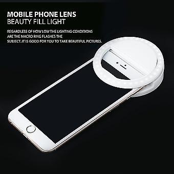 Hordozható szelfi fénygyűrű klip világító lámpa LED vaku fény telefon gyűrű