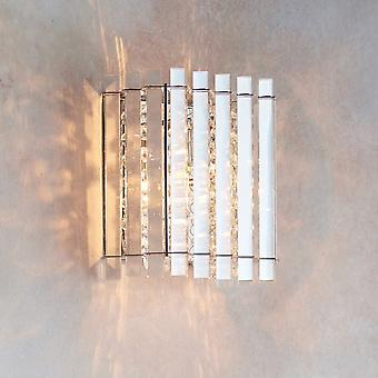 Endon Collection  Hanna Single Wall Light In Chrome And Clear Crystal Glass
