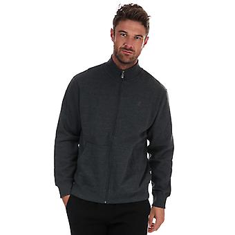 Men's Russell Athletic Track Jacket in Grey
