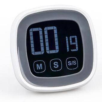 Grande touch screen digital kitchen timer countdown altoparlante cronometro allarme (nero)