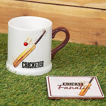 Sillón Supporters Society Mug &Coaster Juego de regalos - Cricket