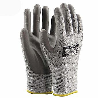 Level 5 Protection Wearable Work Gloves Pu Coating Anti Cut Gloves