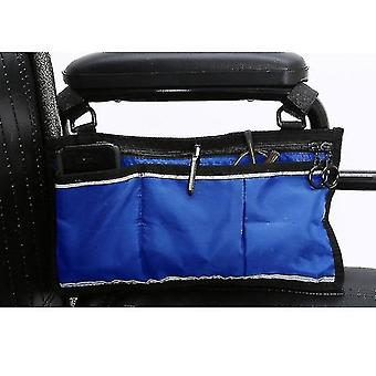 portable wheelchair side hanging storage bag, multifunctional Wheelchair storage bag(Blue)