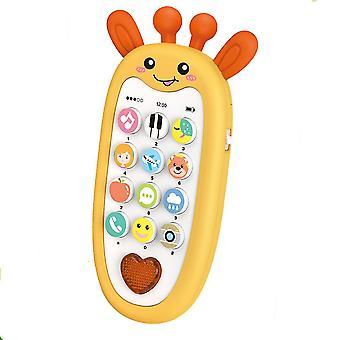 Licht und Musik zweisprachige Aufklärung Cartoon Telefon Geschichte Lernspielzeug (Farbe-2)