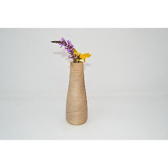 Holzvase Vase 18 cm Ahorn Blumenvase Vase Holzdekoration Holzdeko Geschenk