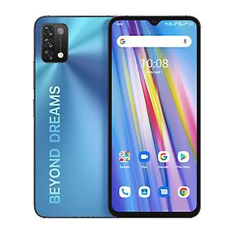 UMIDIGI A11 Smartphone Mist Blue - Olåst SIM-fritt - 4 GB RAM - 128 GB förvaring - 16MP trippelkamera - 5150mAh Batteri - Mynta - 3 års garanti