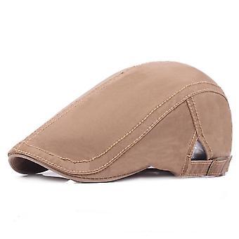 Beret men's flat cap sun protection cap women cotton hat