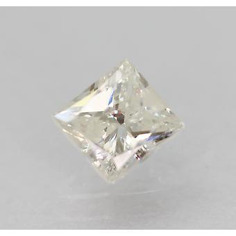 Sertifioitu 0,47 karat E SI3 Princess Enhanced Natural Loose Diamond 4.59x4.3mm