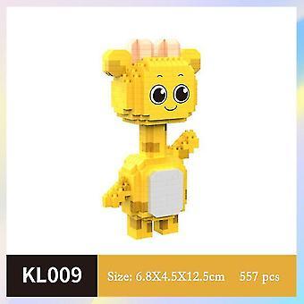 Sarjakuva nukke peukalo malli rakennuspalikat DIY Kokoaminen rakennus lasten leluja| Lohkot (keltainen)